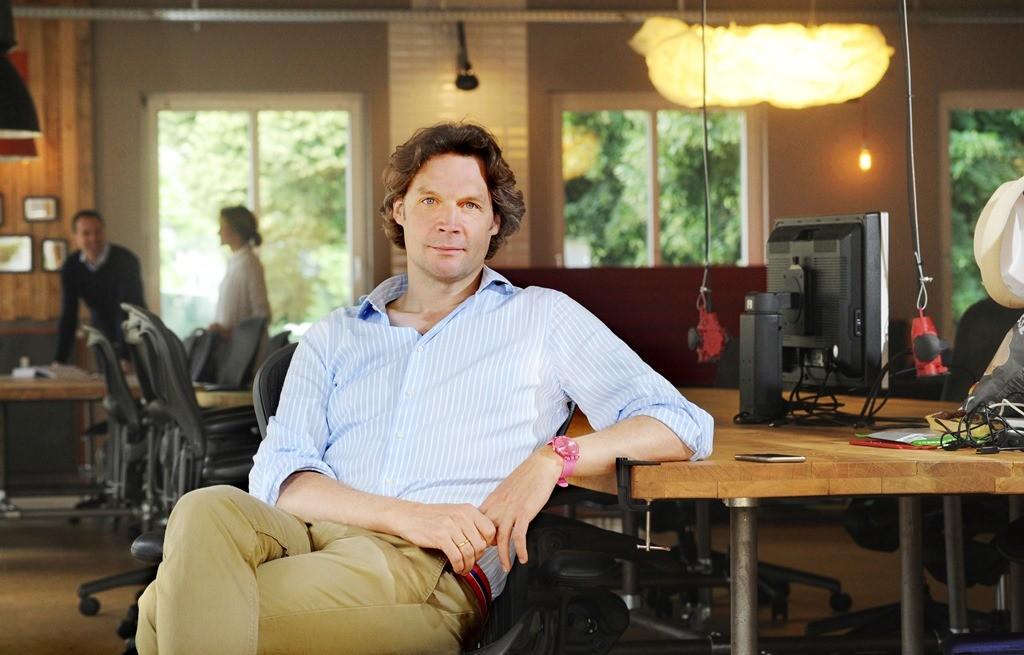 Sebastian Borek, Co-Founder und CEO der Founders Foundation (Foto: Bernhard Pierel/'WESTFALEN-BLATT') +++